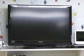 液晶テレビでDVDの鑑賞