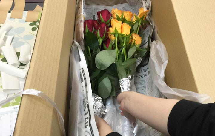バラの箱詰